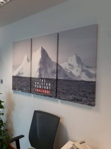 Office Canvas Print on Wood Frame